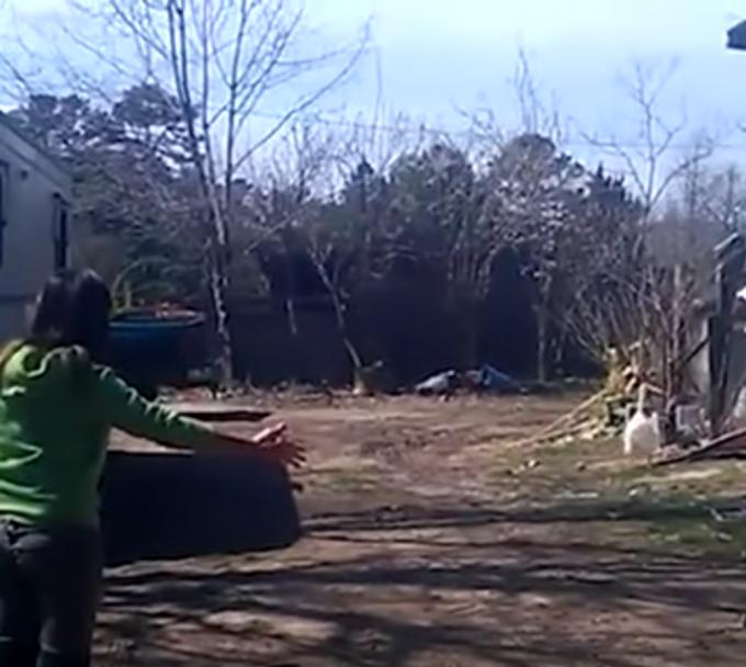 飼い主さんに翼を広げて駆け寄るガチョウが可愛い!